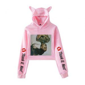 Ariana Grande Cropped Hoodie #5