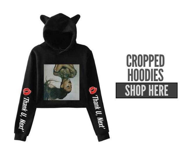 ariana grande cropped hoodies